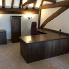 Regents desking range Crown American Walnut real wood desking