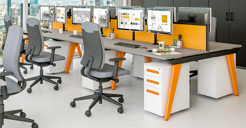 Modern office desking suppliers in London