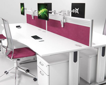 bench and beam desking