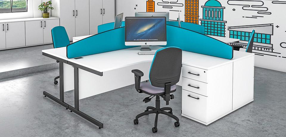 office desking standard ranges