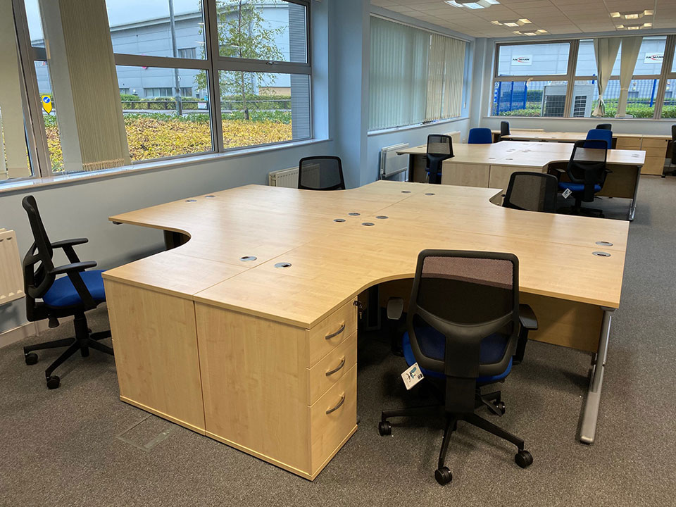 new desks installed in Harlow