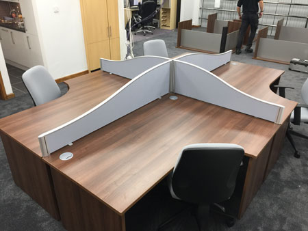 office desks in walnut finish