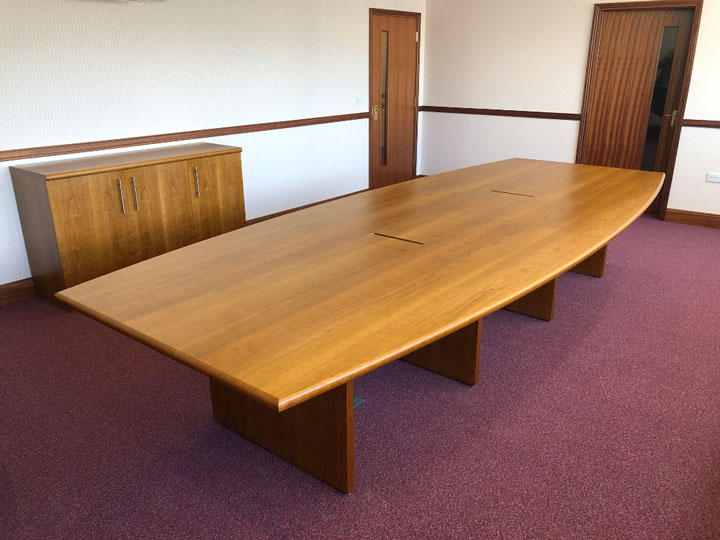 Custom Boardroom Table in Cherry