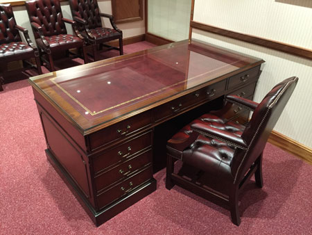 Bespoke Office Furniture Essex - Mahogany Desk