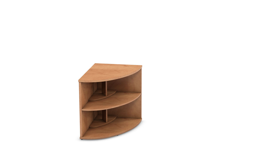 radial bookcase left hand