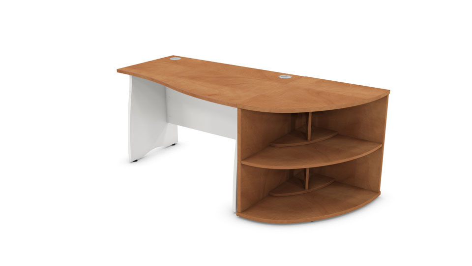 desk and bookcase right hand