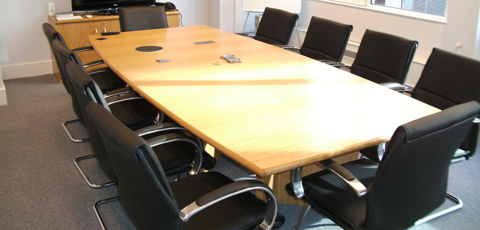 Real wood boardroom table